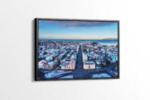 Reykjavik City Center Canvas Wall Print