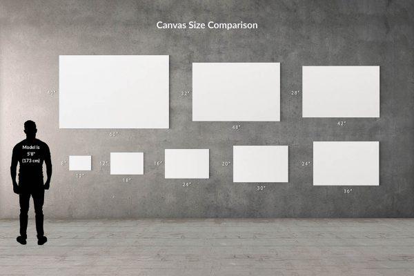 Canvas Wall Print Size Comparison