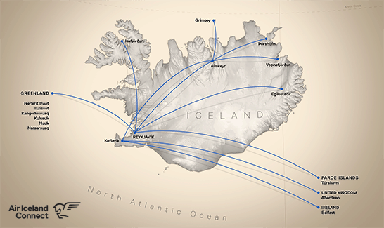 Air Iceland Connect routes