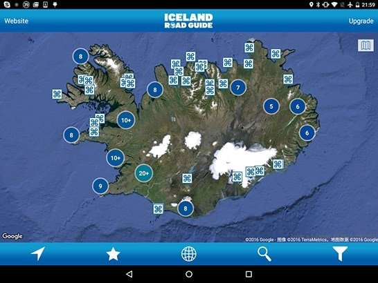 Iceland Road Guide App