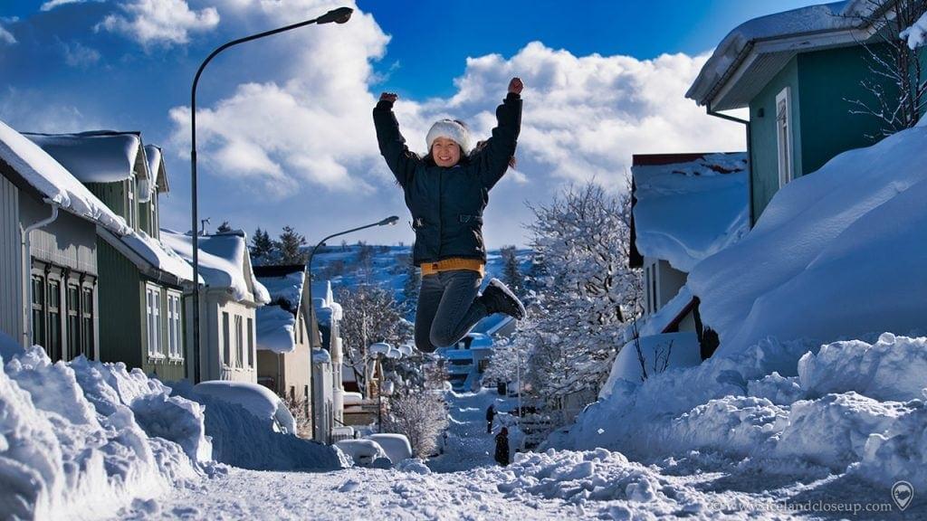 Iceland Snow Jump