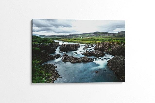The Hidden Glanni Waterfall Canvas Print