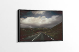 Dark Icelandic Road Canvas Print