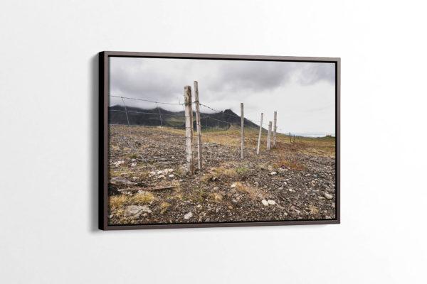 Farm Fence on Snæfellsnes Peninsula Canvas Print