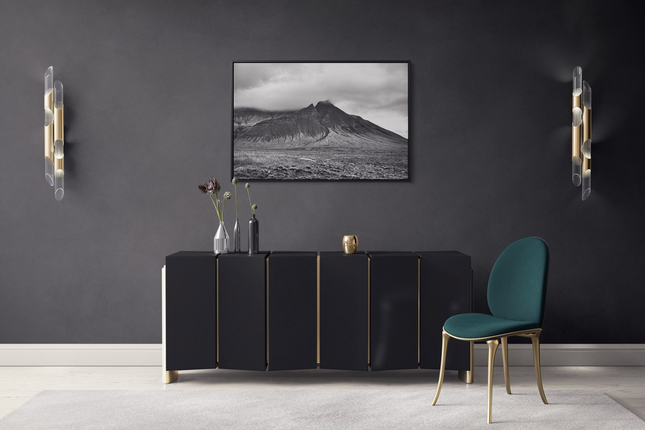 Triple-Triangle Mountain Peak Canvas Print