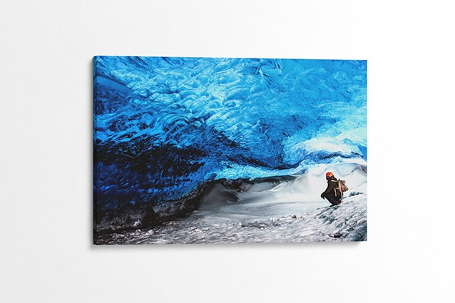 Ever-Changing Blue Ice Cave Canvas Print