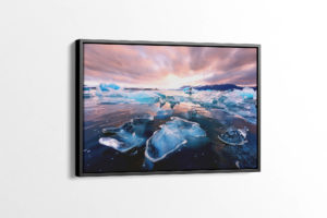 Glacier Lagoon Diamonds at Sunset Canvas Print