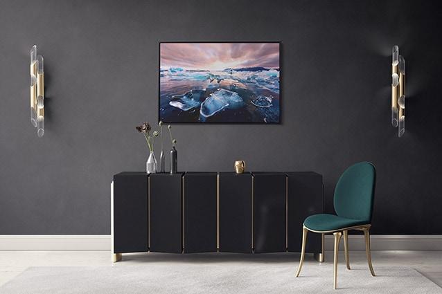Glacier Lagoon Diamonds at Sunset Canvas Print
